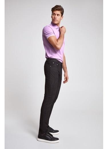 D'S Damat Slim Fit Düz Denim Pantolon Siyah